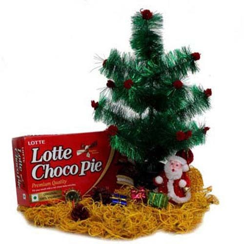 Christmas Tree Santa N Choco Pie